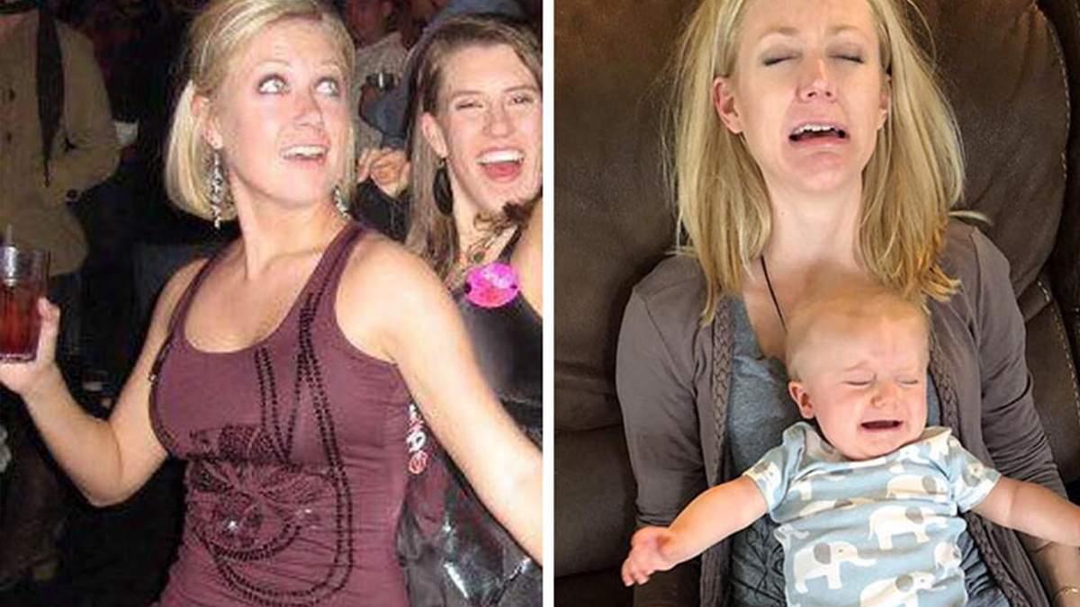 Как меняется жизнь после рождения ребенка: забавные фото родителей