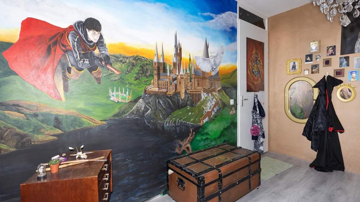 Женщина превратила комнату дочери в Хогвартс