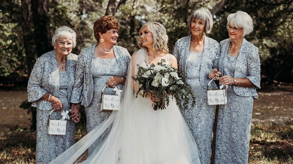 Невеста выбрала своих бабушек для роли свадебных подружек