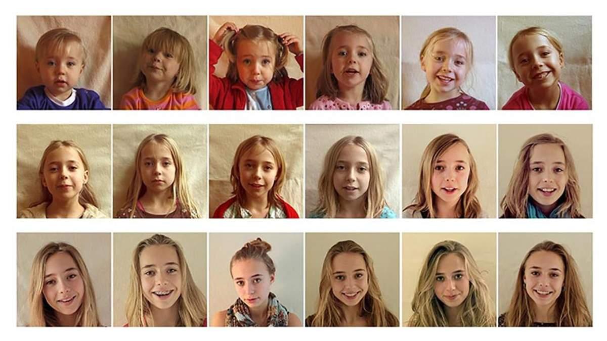Кадры из видео, как росла Лотта