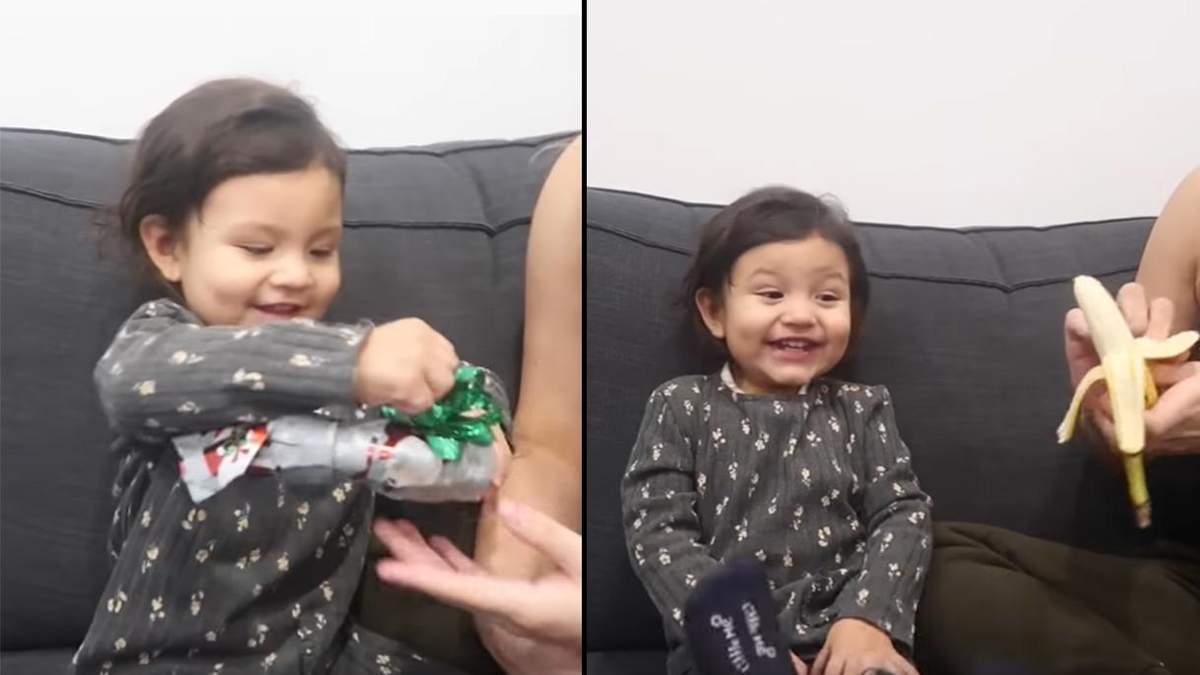 Батьки подарували доньці банан на новорічні свята