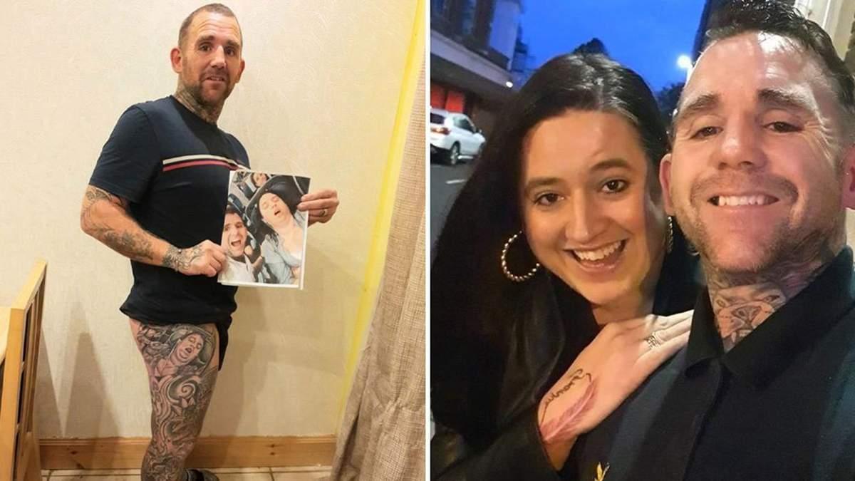 Мужчина сделал тату с лицом жены, но его стыдно показывать людям: фото