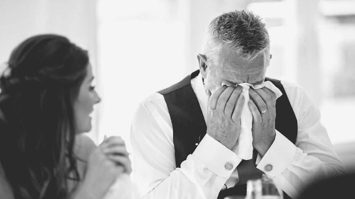 Свадебные фото трогательных моментов папы и дочери на свадьбе