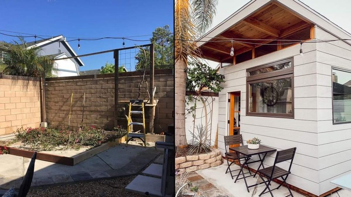 Папа построил кафе на своем заднем дворе за время карантина