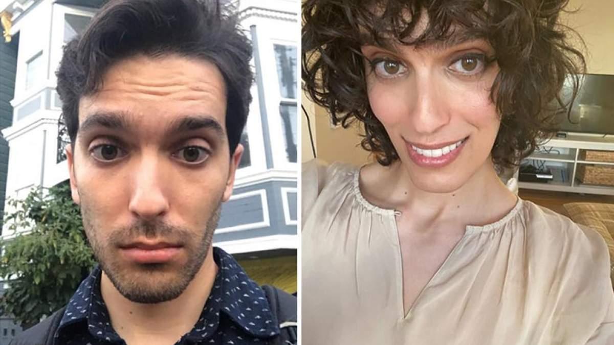 Чоловік перетворився у жінку після прийому гормонів: фото до та після