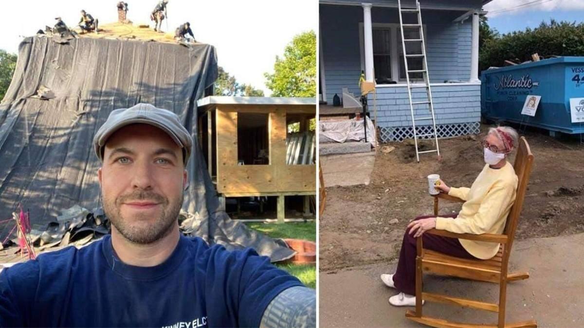 Американец отремонтировал дом старенькой пенсионерке, задействовав весь город: видео