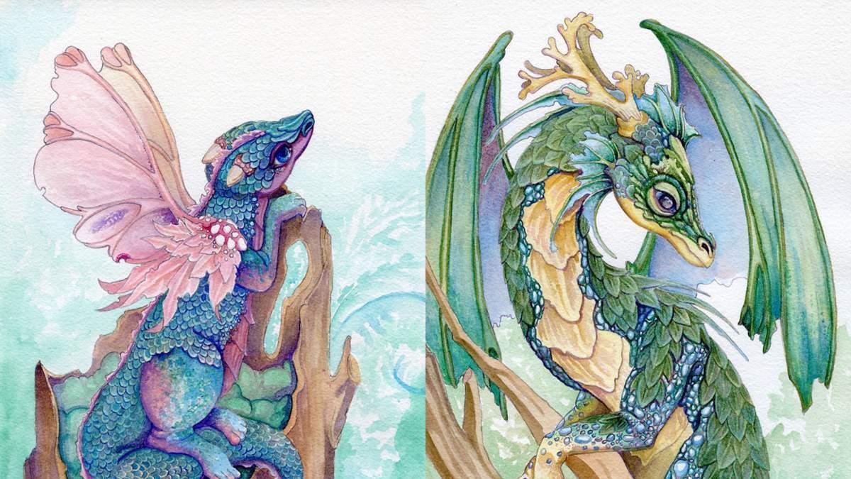 Акварельні дракони