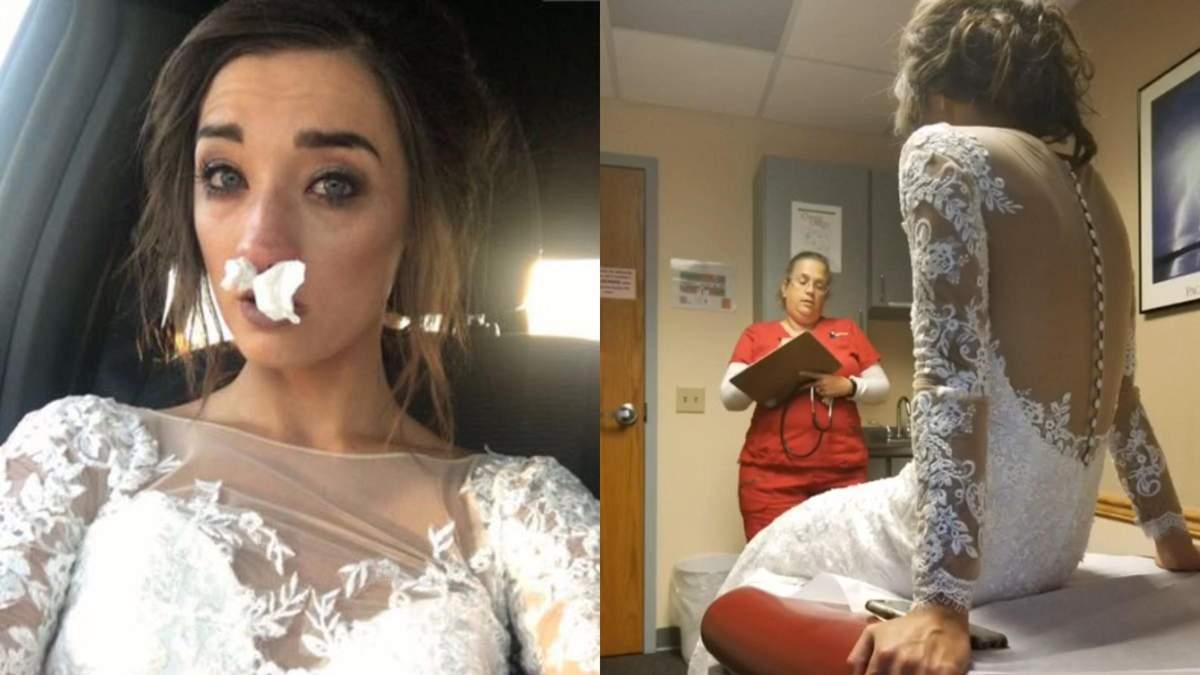 Лікарня замість весілля: букет зіпсував свято закоханим – фото і відео