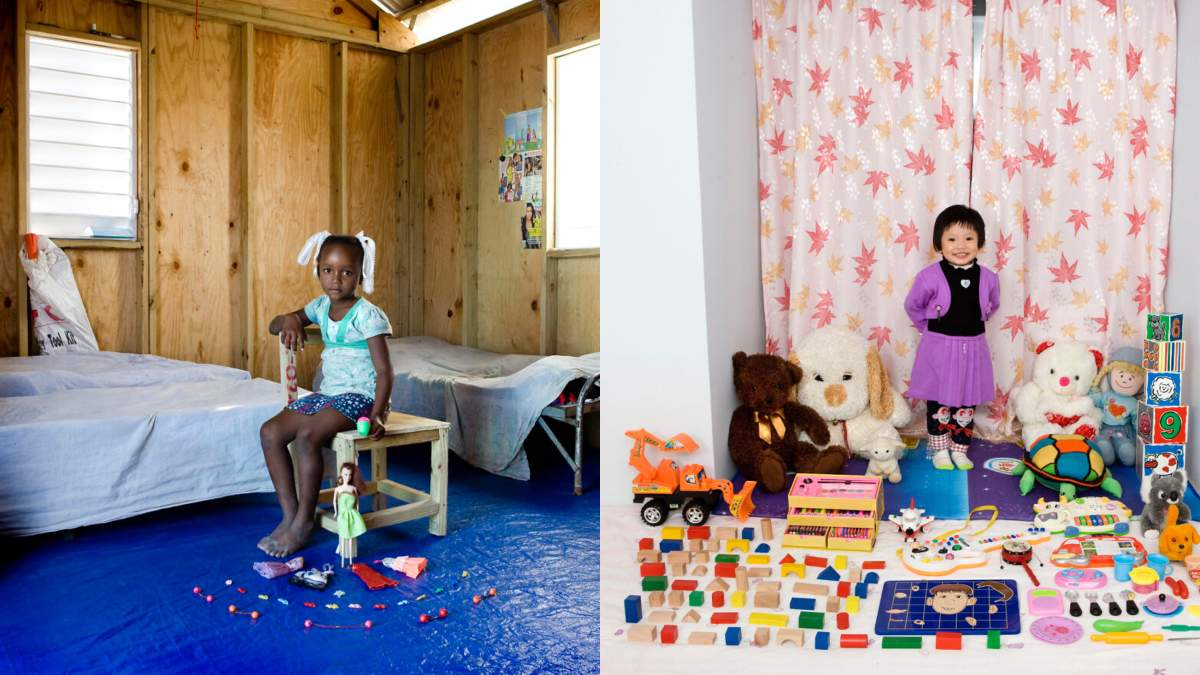 Діти з іграшками: фото Габріеле Галімберті
