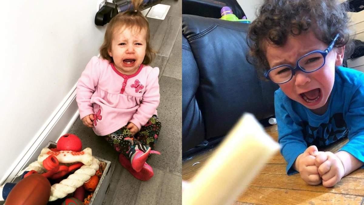 """Не дали залізти в духовку та не """"вимкнули"""" сонце: батьки розповіли, чому їх діти плачуть – фото"""