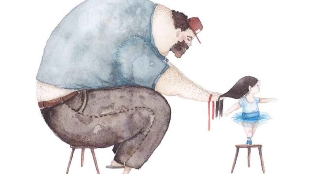 Связь отца с дочерью: фото иллюстраций талантливой художницы Soosh