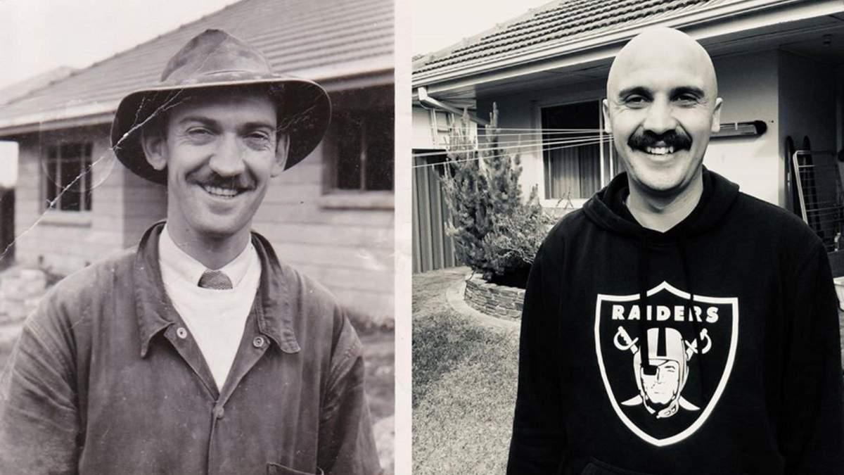 Складно повірити, що це дві різні людини: внук порівняв себе з дідусем