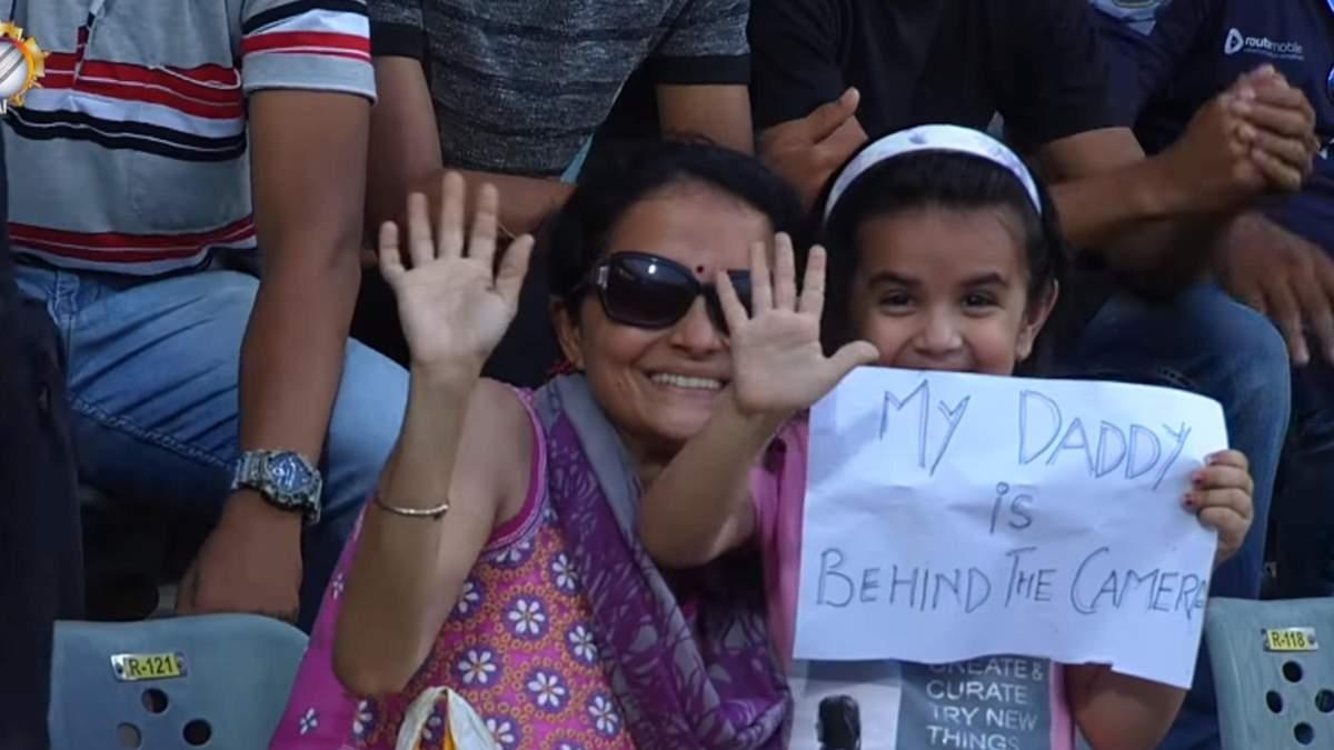 Мой папа за камерой, - дочь трогательно поддержала отца во время матча