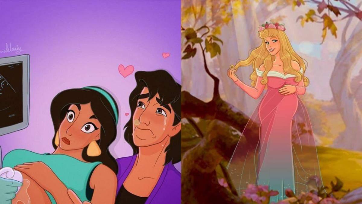 Художниця розповідає про свою вагітність через принцес Disney: фото