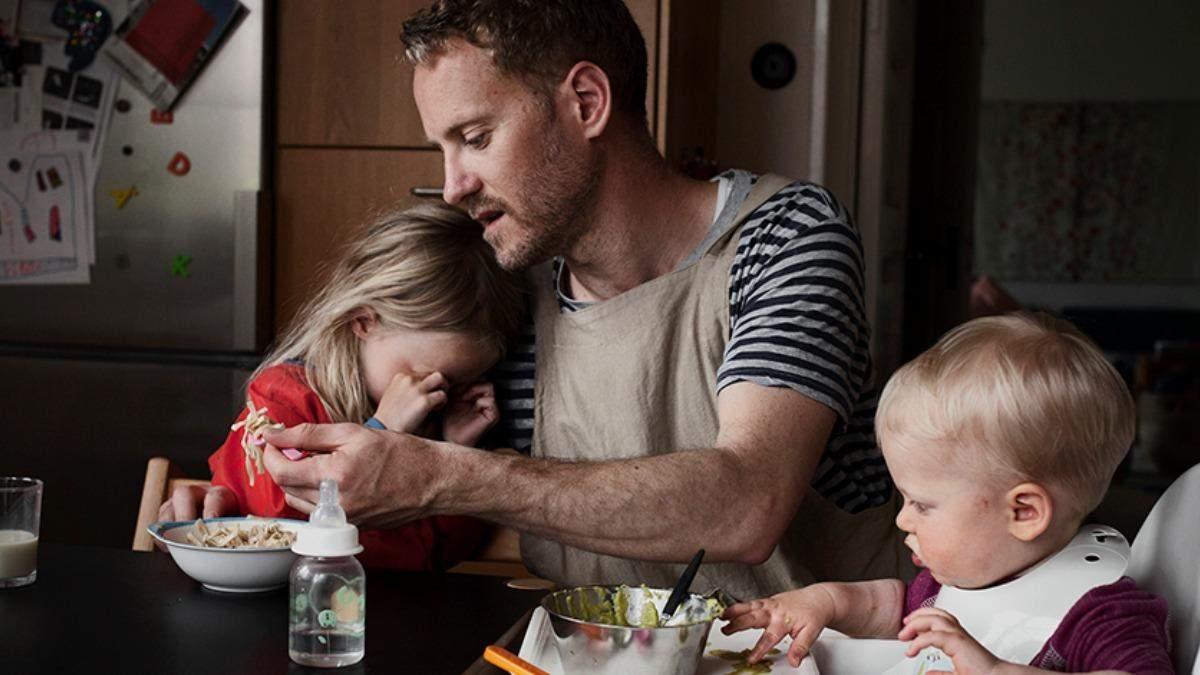 Папа в декрете: шведский фотограф показал реалии отцовства