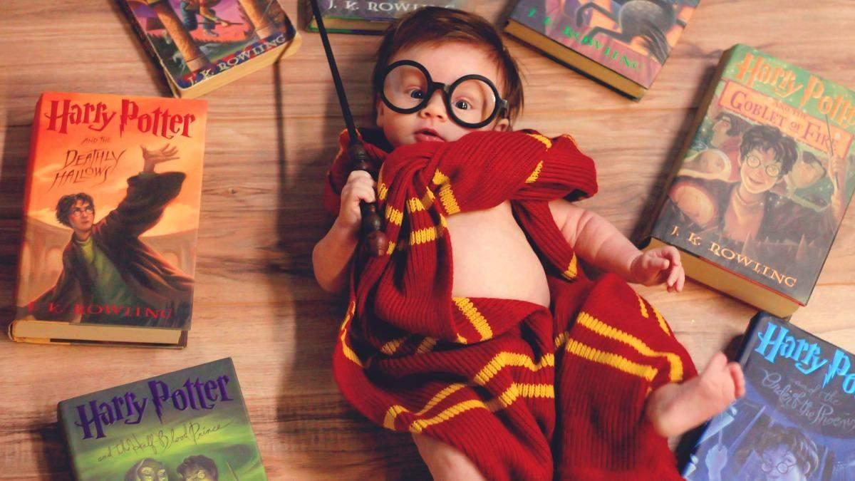 Фотосессия в стиле Гарри Поттера для 3-месячного малыша: впечатляющие кадры от молодой мамы