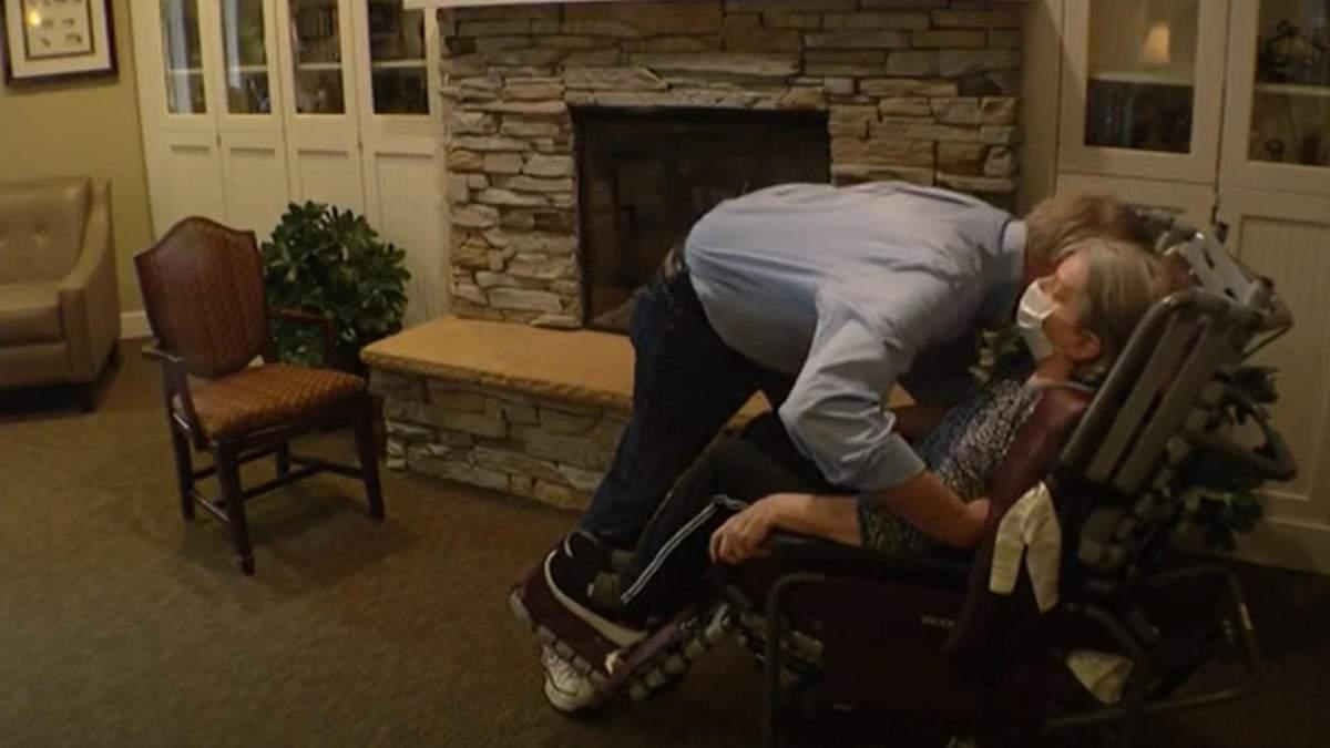 Зустріч КаЧерез COVID-19 чоловік рік не міг обійняти дружину: відео зустрічірла з дружиною