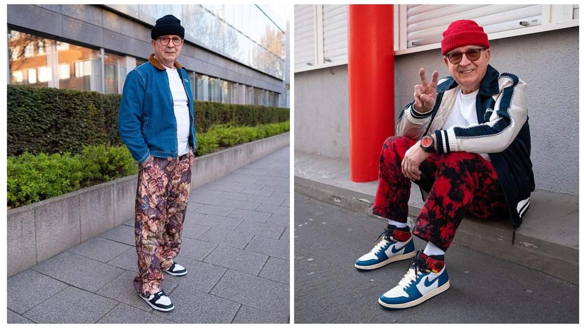 Хипстерский пенсионер из Германии: внук одел дедушку в свою одежду и сделал его знаменитым