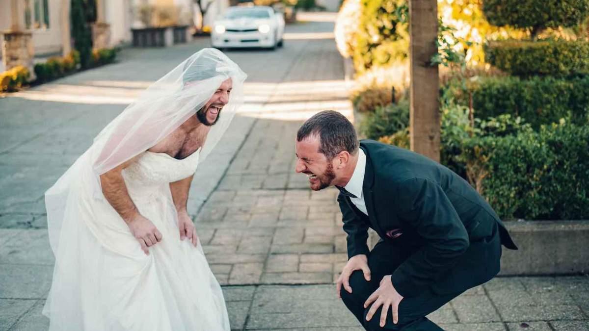 Найкращий друг у сукні замість нареченої: як розіграли нареченого