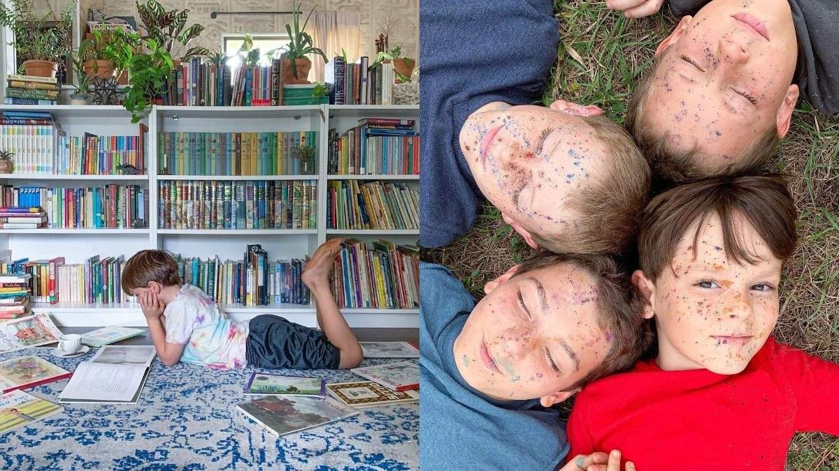 Навчання вдома: як мама самостійно займається освітою дітей – фото