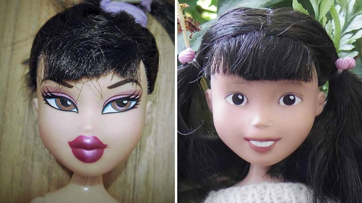 Австралийка удаляет макияж на куклах, надавая им естественности