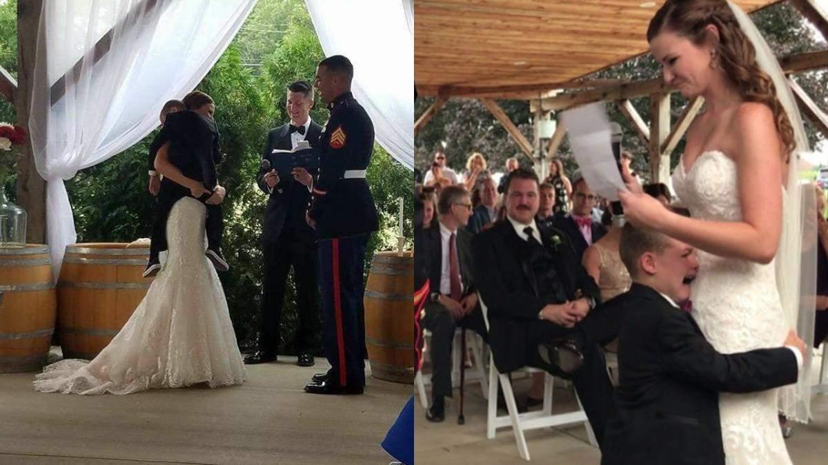 4-летний мальчик расплакался на свадьбе у отца: видео и фото