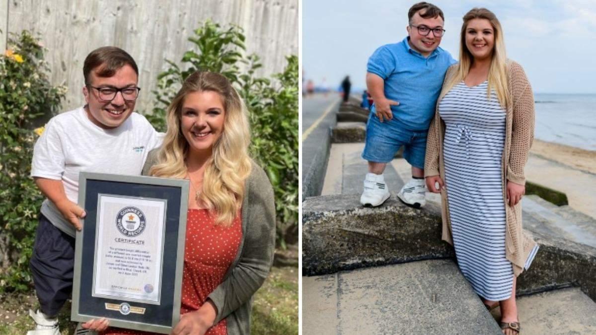 Пара установила мировой рекорд Гиннеса с наибольшей разницей в росте: видео