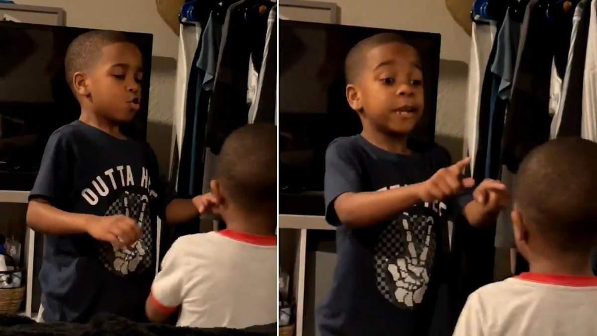 Как 6-летний мальчик успокоил младшего брата: видео