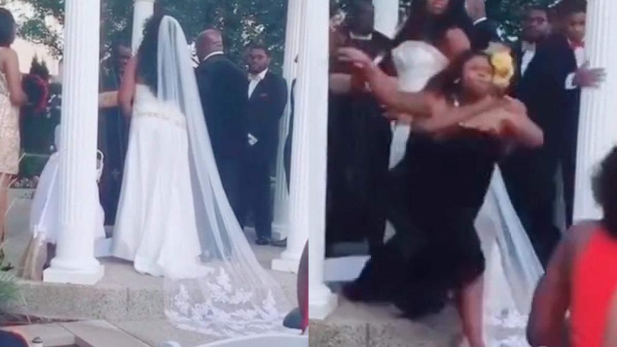 Кричала, що вагітна від нареченого: незнайомка увірвалася на церемонію