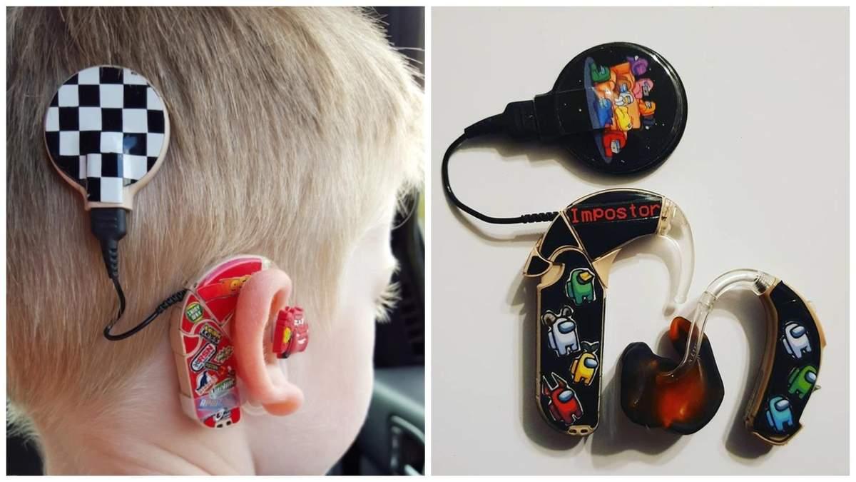 Находчивая женщина заставила чувствовать себя крутыми детей, которые носят слуховые аппараты