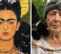 Фрида Кало и Мона Лиза: как мать с дочкой на карантине воспроизводят известное искусство – фото