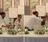 Наречений кинув торт в обличчя нареченої: як це сталося – відео
