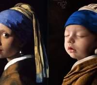 Дівчинка віком у 18 днів відтворила відомі картини: вражаючі фото