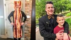 Подросток встречает младшего брата из школы в ярких костюмах: смешные видео