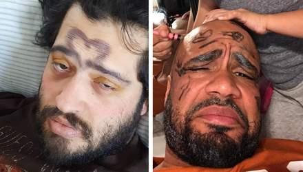 """15 випадків, коли дочки зробили """"легкий"""" макіяж своїм татусям: смішна добірка"""