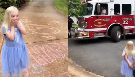 Полиция, спасатели и парад с авто: какой праздник сделала мама 5-летней дочери – видео