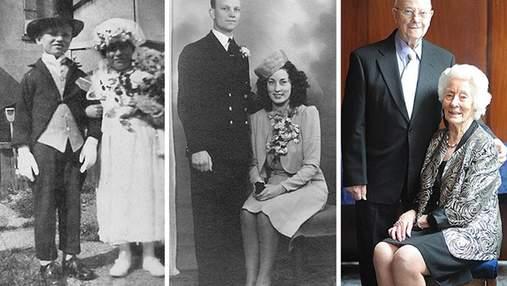 Вічне кохання: сімейні пари зробили однакові фото через десятки років