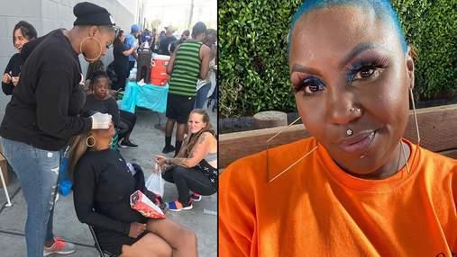 Американка бесплатно делает прически и макияж бездомным женщинам: фото перевоплощений