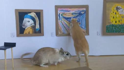 Пара на карантині створила мініатюрну галерею з відомими картинами для своїх гризунів: милі фото