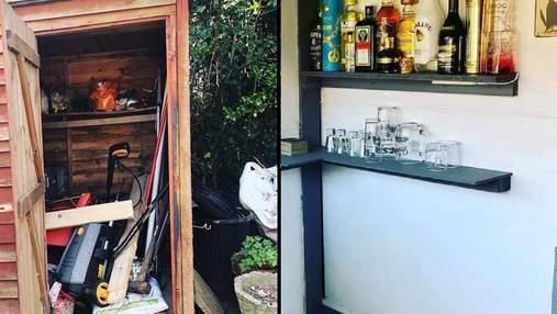 Парень превратил сарай своей мамы в бар на открытом воздухе: фото