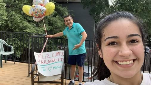 Тато провів 17 годин в дорозі, щоб привітати доньку з днем народження на карантині: мила історія