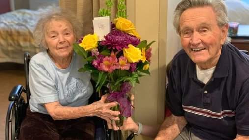 Пара, прожившая в браке 67 лет, наконец встретилась после выздоровления от COVID-19: милое видео