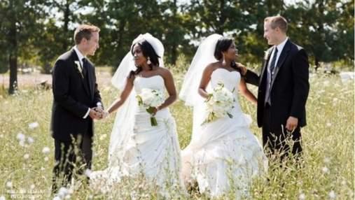 Сестры-близняшки вышли замуж за братьев-близнецов: милые фото