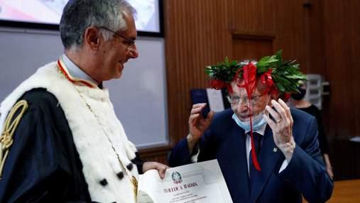 Італієць закінчив університет у майже 97 років: деталі та фото
