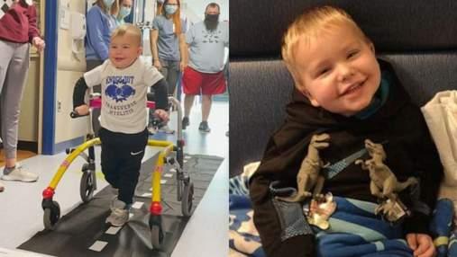 2-річний хлопчик знову зміг ходити після паралічу: відео перших кроків малюка