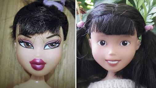Австралийская мамочка удаляет агрессивный макияж на старых куклах, придавая им естественности