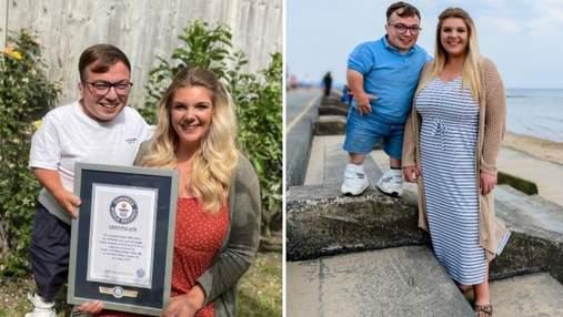 Пара встановила світовий рекорд Гіннеса з найбільшою різницею в зрості: відео