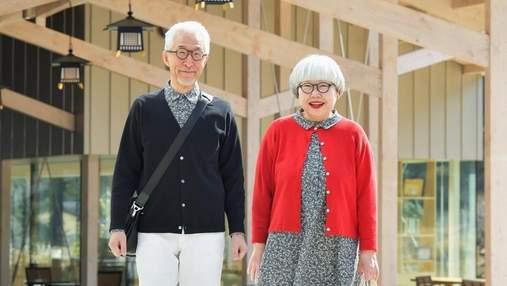 Пожилые супруги из Японии покоряют инстаграм стильными парными костюмами: 20 лучших образов