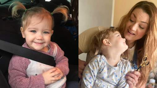 2-річна дівчинка схопила ножиці й обстригла собі волосся: що вийшло у дитини