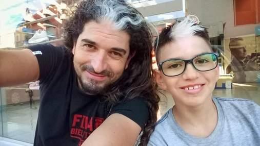 Отец с сыном имеют одинаковые белые пятна: как частичный альбинизм захватил 6 поколений в семье